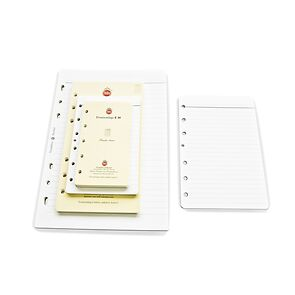 Notizpapier weiß liniert