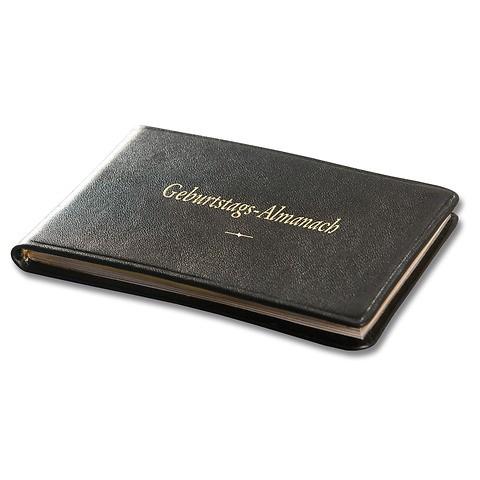 Geburtstags-Almanach Ausgabe No. 2 mit Goldschnitt, Rindvollleder Verona chestnut-braun