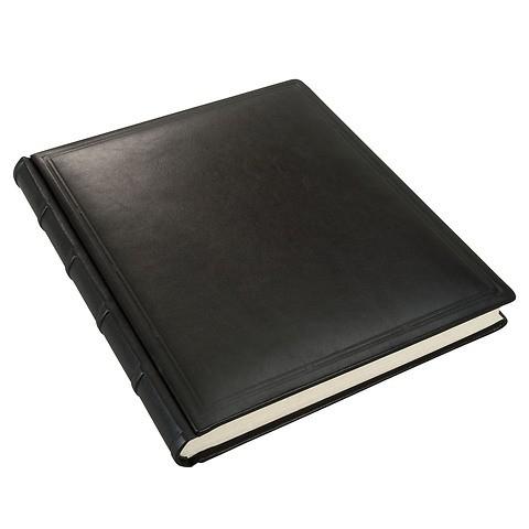 Kondolenzbuch Rindvollleder Verona onyx-schwarz