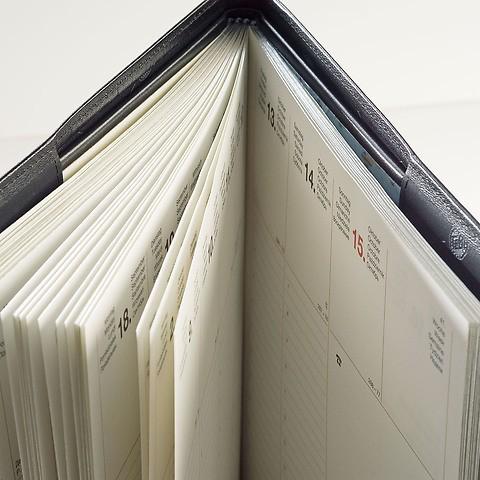 Lederhülle für Office Wochenkalender (21 x 26 cm)