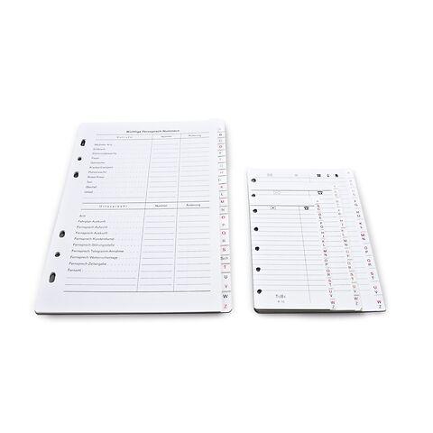 Registereinlage Karton A-Z