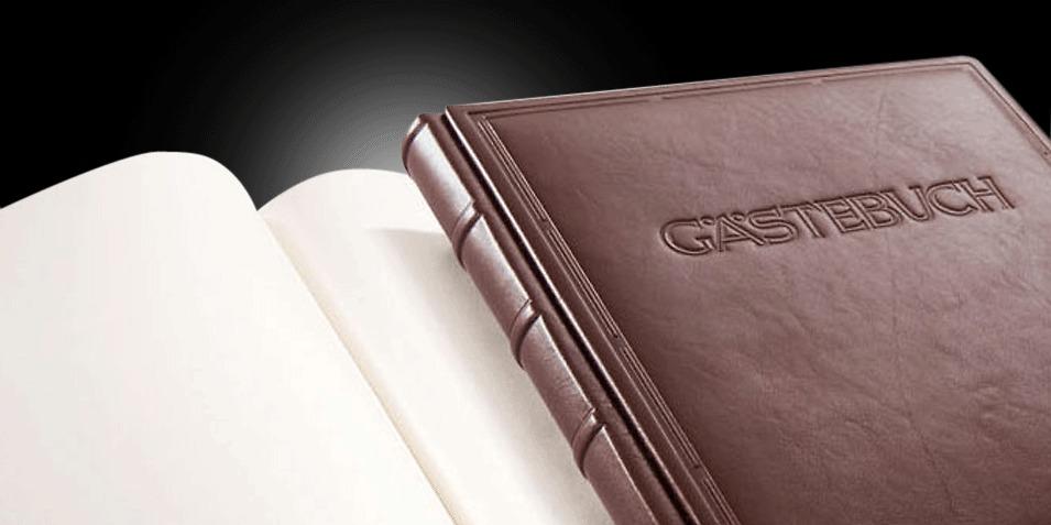 <b>Gästebuch Ausgabe No. 1 mit Titel</b>